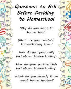 homeschooling questions