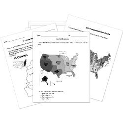 Free Printable US History Worksheets, Tests, and Activities