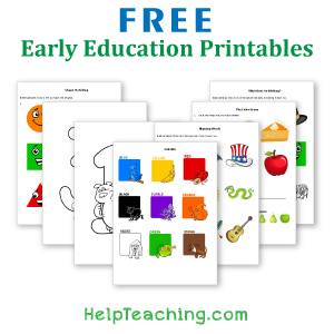 Free Early Education Printables